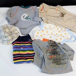 Lot Of Newborn Tops Boys One Piece and Shirts